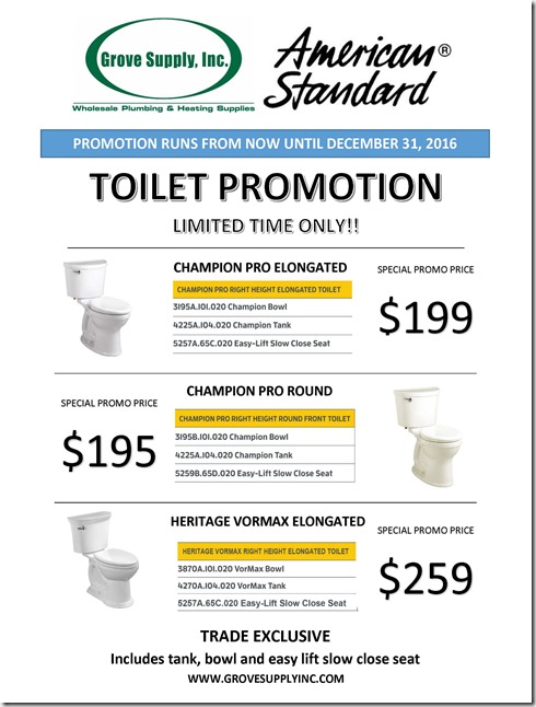 2016-Promos-American Standard Toilet Promotions-Fall
